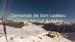 Demande de bon cadeau station de Luz Ardiden