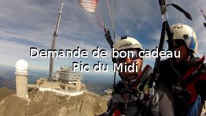 Demande de bon cadeau Pic du Midi